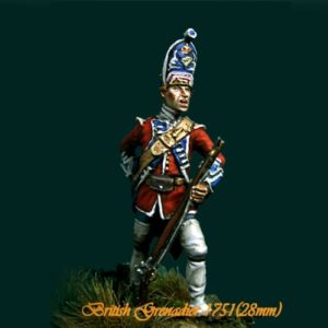 British Grenadier 18th Reg. 1751 - 28mm miniatures - Oniria Miniatures