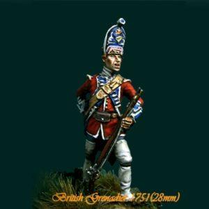 British Grenadier 18th Reg. 1751 - 28mm miniatures - Oniria Miniatures