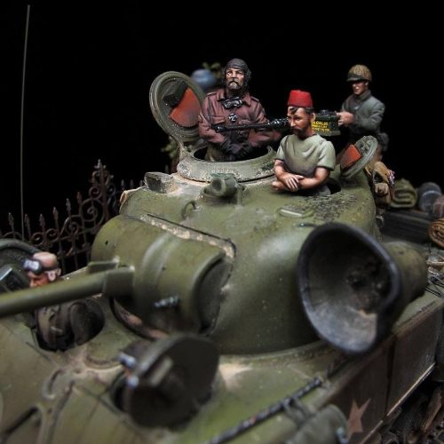 Sherman Motley crew - 28mm miniatures - Oniria Miniatures