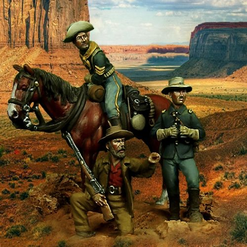 US cavalry in the plains - 28mm miniatures - Oniria Miniatures