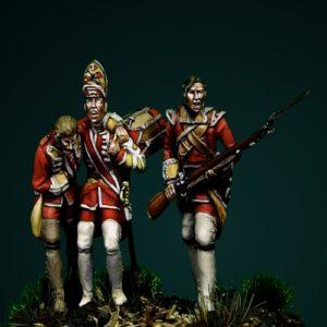 Braddock's Defeat at Monongahela I - 28mm miniature - Oniria Miniatures